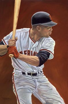 Baseball Art - Mighty Willie by Dick Perez Famous Baseball Players, Best Baseball Player, Baseball Art, Giants Baseball, Better Baseball, Baseball Field, Baseball Snacks, Baseball Cupcakes, Baseball Guys