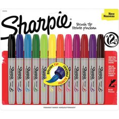 Sharpie Brush Tip Markers 12/Pkg-: Amazon.de: Bürobedarf & Schreibwaren