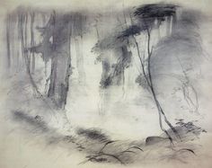 Black and white landscape by Tyrus Wong