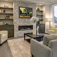 Extraordinary Small Living Room Design Ideas With 7 Decorative Design Tips 31 - Home Sweet Fireplace Built Ins, Home Fireplace, Fireplace Remodel, Living Room With Fireplace, Fireplace Surrounds, Fireplace Design, Living Room Decor, Fireplace Ideas, Fireplaces