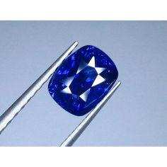2.17 Ct Ceylon Natural VVS Royal Blue Sapphire Rectangular Cushion Shape Certified Gemstone