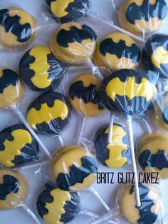 Batman Oreo pops(this pin will come in handy in the future)