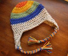 Crochet Baby Boy Earflap Hat Zero3 Month by RachelsCozyCrochet, $12.00