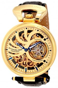 Stuhrling Original 127C.333514 Special Reserve Emperors Mechanical Skeleton Watch For Men