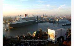 Cruise Ship Queen Mary II comes to #Hamburg for an overhaul at #BlohmVoss #Shipyard. #WorldsBestShipyard #GermanEngineering #BlohmVoss