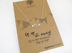 Mountain Necklace - Geometric Necklace, Dainty Necklace, Hipster Jewelry, Gift…