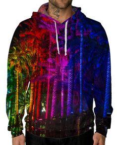 RUKES Rainbow Palms Unisex Hoodie