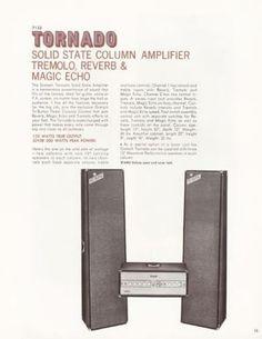Vintage-Rare-1969-Gretsch-Tornado-Guitar-Bass-PA-Amp-Head-Model-7155-Amplifier