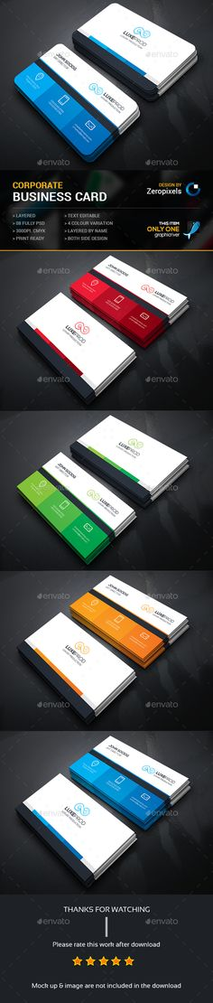 Business Card — Photoshop PSD #modern design #designer • Available here → https://graphicriver.net/item/business-card/15064266?ref=pxcr