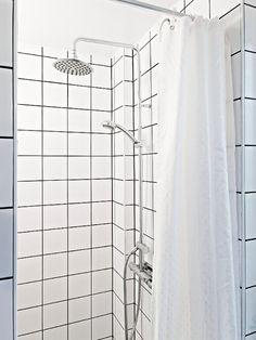 White Bathroom Tiles With Black Grout white square tiles and black grout | square | pinterest | black