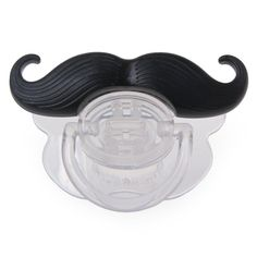Silicone Newborn Funny Mustache Design Baby Nipple Baby Soother Joke Prank Toddler Baby Pacifier Clips Feeding Care