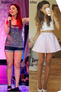 ariana grande before and after weight loss - Google Search Jeg er veldig usikker…