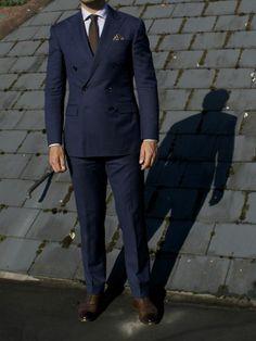 Crat - navy DB suit fit