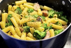 Chicken-Sausage Pasta Toss with Broccoli and Feta