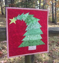 Add some whimsy to your holiday! The Crooked Christmas Tree Paper Piecing Pattern makes a finished 17 x 17 mini quilt for a wall hanging. It only takes a half yard of three different fabrics, and goes together very quickly. Mini Quilt Patterns, Christmas Quilt Patterns, Christmas Sewing, Christmas Patchwork, Christmas Quilting, Grinch Christmas Tree, Christmas Art, Christmas Ideas, Christmas Blocks