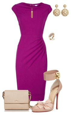 """""""Untitled #513"""" by angela-vitello on Polyvore featuring L.K.Bennett, Brooks Brothers, Vendoro, Kate Spade and Christian Louboutin"""