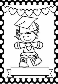 Graduation Songs, Kindergarten Graduation, Classroom Art Projects, Art Classroom, Coloring Book Pages, Coloring Sheets, Orla Infantil, Christmas Ornament Template, Islamic Cartoon