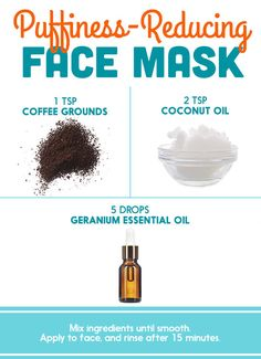 Coffee Grounds + Essential Oil (Some blogs recommend Geranium Oil) | Here's What Dermatologists Said About Those DIY Pinterest Face Masks