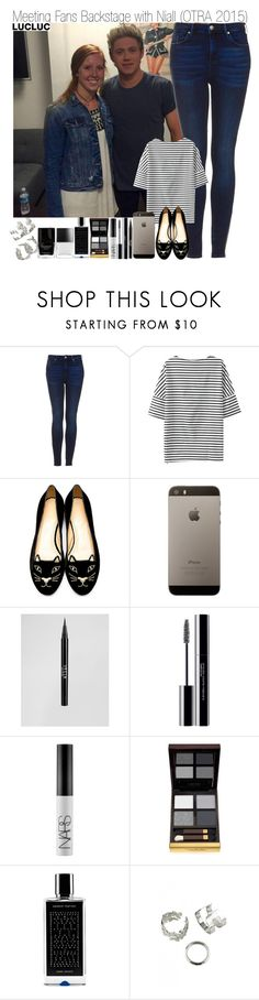 """""""Meeting Fans Backstage with Niall (OTRA 2015)"""" by elise-22 ❤ liked on Polyvore featuring Topshop, Charlotte Olympia, Stila, shu uemura, NARS Cosmetics, Tom Ford, Agonist and Butter London"""