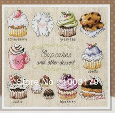 Free shipping RS European Style delicious cake embroidery cross stitch kits