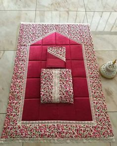 This Pin was discovered by Hif Ramadan Crafts, Ramadan Decorations, Islamic Prayer, Fru Fru, Prayer Room, Hand Art, Love Sewing, Bed Covers, Baby Knitting