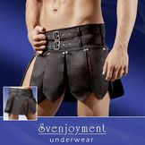 leather bottom.... longer....  http://www.blackleather.eu/product/697/real-leather-gladiator-vest-medieval-armor-larp-sca