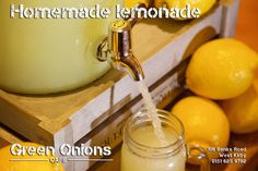 Homemade american style lemonade Pressed Juice, Green Onions, Fruit Smoothies, No Cook Meals, Lemonade, Homemade, American, Cooking, Breakfast