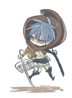 Kuroko Tetsuya if he was in Attack on Titan