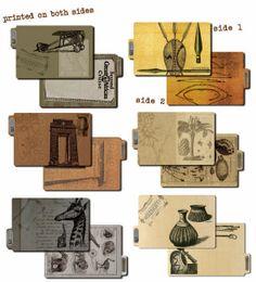 Winter 2014 Release: Serengeti ATC Printed File Folders - African Inspired Designs - #7gypsies