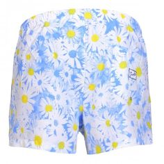 SWIM SHORTS WITH DAISY PRINT Polyester Boardshorts with all-over daisy print. Elastic waistband with adjustable drawstring. Back pocket with Frank's label detailing. Internal net. COMPOSITION: 100% POLYESTER.