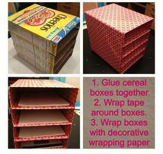 Organización con cajas de cereales