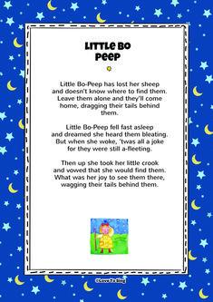 "Download this popular kids video song ""Little Bo Peep"" With FREE lyrics & fun activities. Nursery Rhymes Video Songs, Kids Video Songs, Kids Nursery Rhymes, Rhymes For Kids, Silly Songs, Sing Along Songs, Baby Songs, Free Song Lyrics, Baby Lyrics"