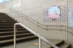 mixi・モンスターストライク|JR池袋駅 臨時パネル 2015.4