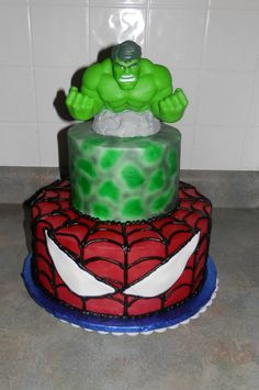 Em This is at amazon too Avengers Hulk Cake Topper gavins