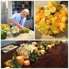 yolanda foster - on how to make the perfect table arrangements. She's kind of my idol. Table Arrangements, Floral Arrangements, Yolanda Foster, Housewives Of Beverly Hills, Floral Centerpieces, Party Centerpieces, Centerpiece Ideas, Diy Interior, Interior Design