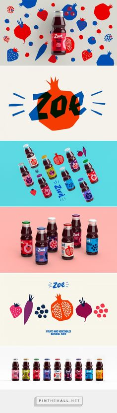 Zoe Juices on Behance... - a grouped images picture - Pin Them All