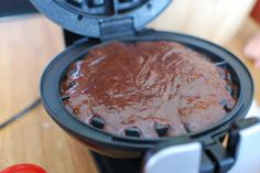"""brownies in waffle iron! --this is one of those things I should just not know... (along with cookies in a waffle iron, and several other """"make it instantly in a waffle iron"""" sort of desserts...)"""