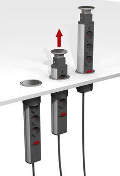 Pop-Up Power Beslag Design, 3 st. Eluttag