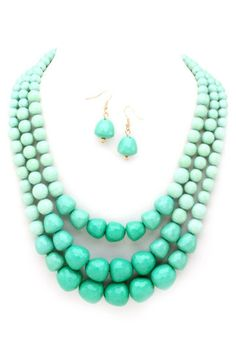 Two Tone Bead Necklace