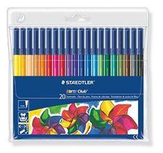 Staedtler Fibre Tip Pens Wallet of 20 image $20