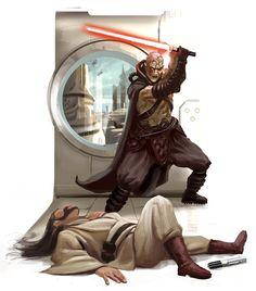 Darth Sion strikes down a Jedi.