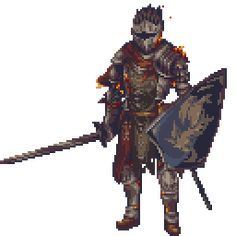 Dark Souls 3 - Red Knight by Zedotagger on DeviantArt Dark Souls 3, Fantasy Armor, Medieval Fantasy, Soul Saga, Pixel Animation, Red Knight, 8bit Art, Game Design, Game Art