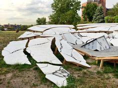 "New York's 15 Can't-Miss Summer Public Art Installations | artnet news | Heide Fasnacht, ""Suspect Terrain"" (2015), Socrates Sculpture Park, Photo: Courtesy of Edward C. Corral, via Twitter"