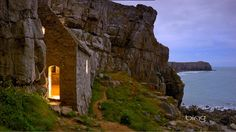 Saint Govan's Chapel in Pembrokeshire Coast National Park, Dyfed, Wales - Mar/1/2013