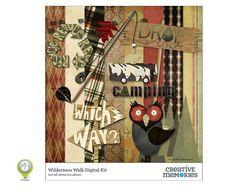 Wilderness Walk Digital Kit from Creative Memories #digitalscrapbooking