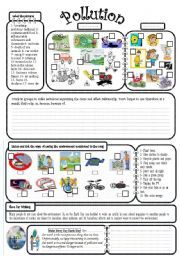 POLLUTION :: TYPES OF POLLUTION :: KINDERGARTEN WORKSHEET GUIDE ...