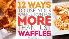 Mouth Watering Waffle Iron Recipes (for more than just Waffles! Burp Cloth Patterns, Bag Patterns, Sewing Room Organization, Organization Ideas, Fabric Snack Bags, Cookout Side Dishes, Waffle Iron Recipes, Fabric Book Covers, Field Day