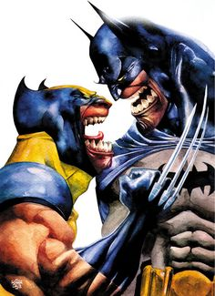 Wolverine Vs Batman by Roger Cruz