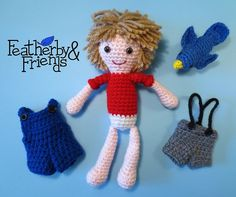 Featherby & Friends Boy Doll Crochet Pattern