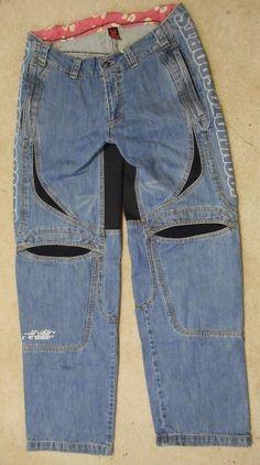 Icon  Hooligan Denim Pants Size 34 100% Cotton Motorcycle Racing Pants #Icon